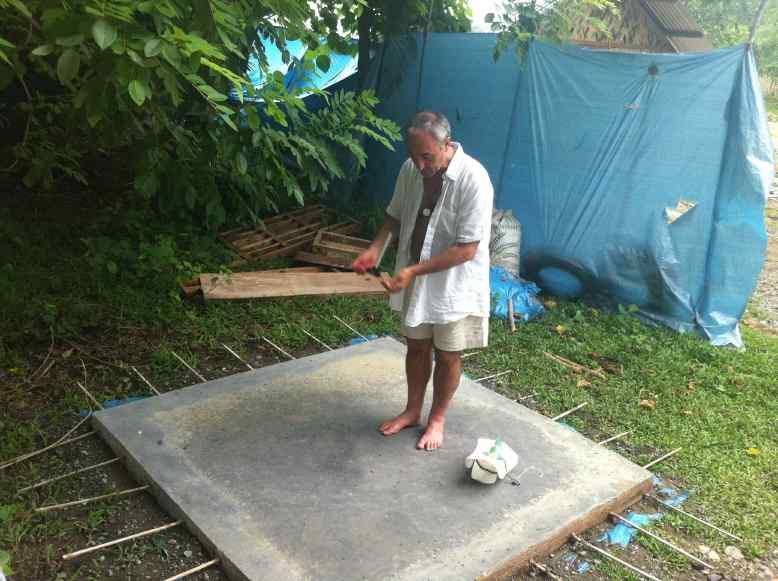 A3 JJ testing bamboo reinforced slab L